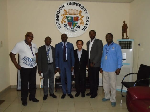 Huawei Team Visits Igbinedion University